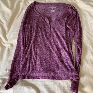 American Eagle Purple Henley (super soft)